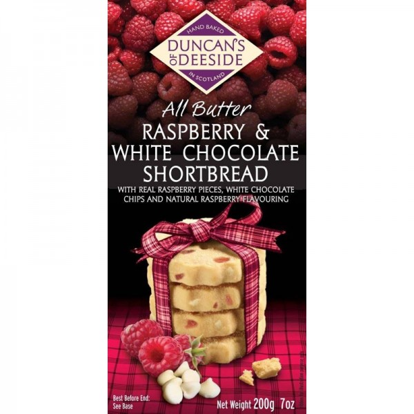 Raspberry & White Choc Scottish Shortbread