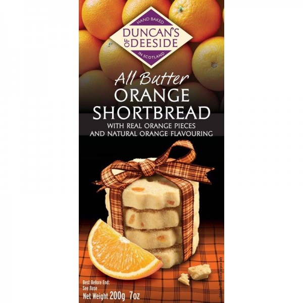 Orange Scottish Shortbread
